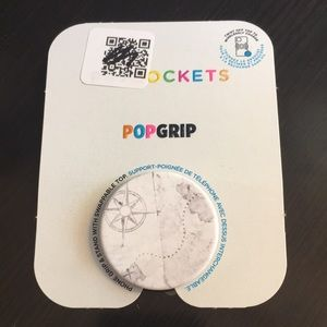 PopSocket Phone Grip Old World Map White and Gray